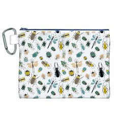 Insect Animal Pattern Canvas Cosmetic Bag (xl) by BangZart