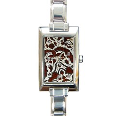 Javanese Batik Rectangle Italian Charm Watch by BangZart