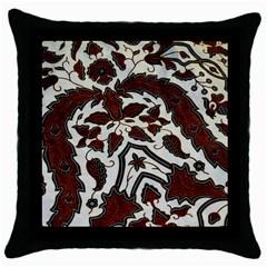 Javanese Batik Throw Pillow Case (black) by BangZart