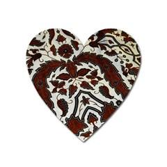 Javanese Batik Heart Magnet by BangZart