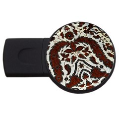 Javanese Batik Usb Flash Drive Round (2 Gb) by BangZart