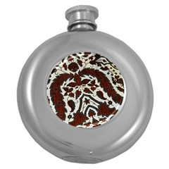Javanese Batik Round Hip Flask (5 Oz) by BangZart