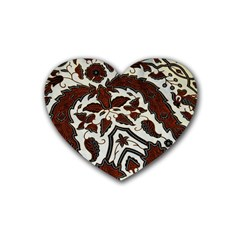 Javanese Batik Rubber Coaster (heart)  by BangZart
