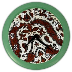 Javanese Batik Color Wall Clocks by BangZart