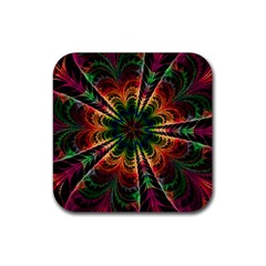 Kaleidoscope Patterns Colors Rubber Square Coaster (4 Pack)  by BangZart