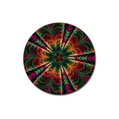 Kaleidoscope Patterns Colors Magnet 3  (round) by BangZart