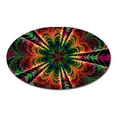 Kaleidoscope Patterns Colors Oval Magnet by BangZart