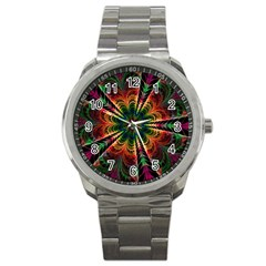Kaleidoscope Patterns Colors Sport Metal Watch by BangZart