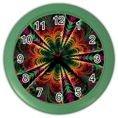 Kaleidoscope Patterns Colors Color Wall Clocks by BangZart