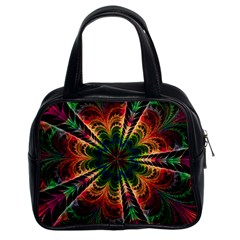 Kaleidoscope Patterns Colors Classic Handbags (2 Sides)