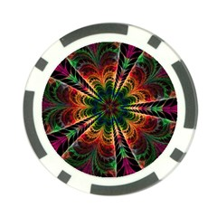 Kaleidoscope Patterns Colors Poker Chip Card Guard (10 Pack)