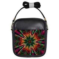 Kaleidoscope Patterns Colors Girls Sling Bags by BangZart