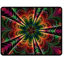 Kaleidoscope Patterns Colors Fleece Blanket (medium)  by BangZart