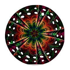 Kaleidoscope Patterns Colors Ornament (round Filigree)