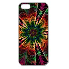 Kaleidoscope Patterns Colors Apple Seamless Iphone 5 Case (clear)