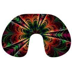 Kaleidoscope Patterns Colors Travel Neck Pillows by BangZart