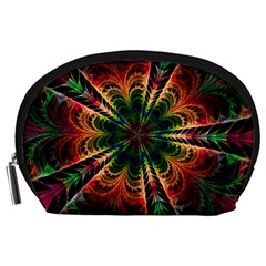 Kaleidoscope Patterns Colors Accessory Pouches (large)