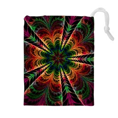 Kaleidoscope Patterns Colors Drawstring Pouches (extra Large) by BangZart