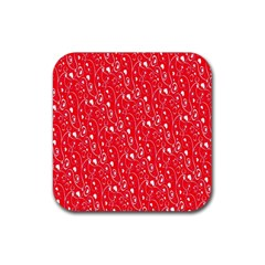Heart Pattern Rubber Square Coaster (4 Pack)  by BangZart