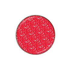 Heart Pattern Hat Clip Ball Marker (4 Pack)