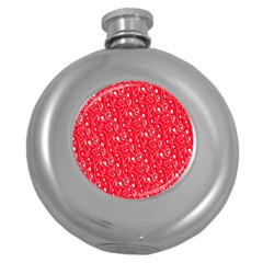 Heart Pattern Round Hip Flask (5 Oz) by BangZart