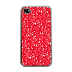 Heart Pattern Apple Iphone 4 Case (clear) by BangZart
