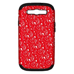 Heart Pattern Samsung Galaxy S Iii Hardshell Case (pc+silicone) by BangZart