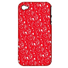 Heart Pattern Apple Iphone 4/4s Hardshell Case (pc+silicone) by BangZart