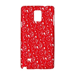 Heart Pattern Samsung Galaxy Note 4 Hardshell Case by BangZart