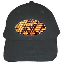 Honey Honeycomb Pattern Black Cap by BangZart