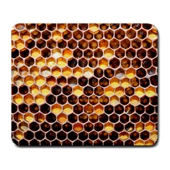 Honey Honeycomb Pattern Large Mousepads by BangZart