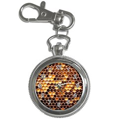 Honey Honeycomb Pattern Key Chain Watches by BangZart