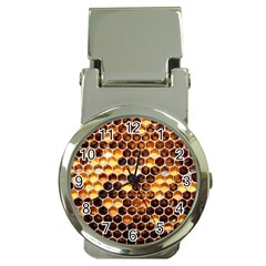 Honey Honeycomb Pattern Money Clip Watches by BangZart