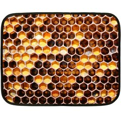 Honey Honeycomb Pattern Fleece Blanket (mini) by BangZart