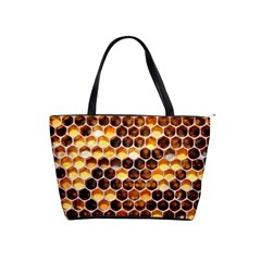 Honey Honeycomb Pattern Shoulder Handbags by BangZart