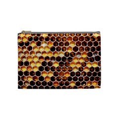 Honey Honeycomb Pattern Cosmetic Bag (medium)  by BangZart