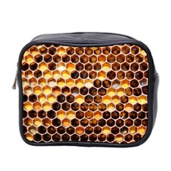 Honey Honeycomb Pattern Mini Toiletries Bag 2 Side