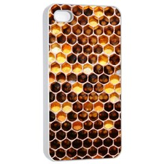 Honey Honeycomb Pattern Apple Iphone 4/4s Seamless Case (white)