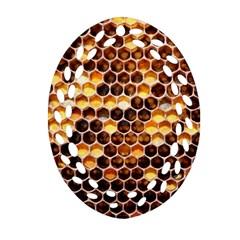 Honey Honeycomb Pattern Ornament (oval Filigree) by BangZart