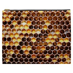 Honey Honeycomb Pattern Cosmetic Bag (xxxl)  by BangZart