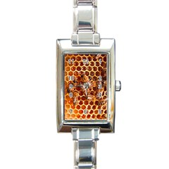 Honey Bees Rectangle Italian Charm Watch by BangZart