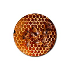 Honey Bees Rubber Coaster (round)