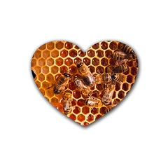 Honey Bees Rubber Coaster (heart)  by BangZart