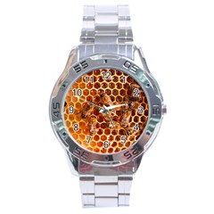 Honey Bees Stainless Steel Analogue Watch by BangZart