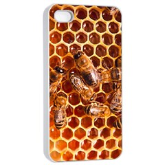 Honey Bees Apple Iphone 4/4s Seamless Case (white) by BangZart