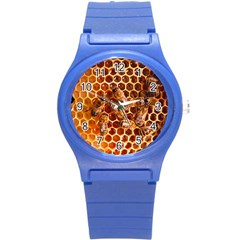 Honey Bees Round Plastic Sport Watch (s) by BangZart