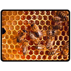 Honey Bees Double Sided Fleece Blanket (large)  by BangZart