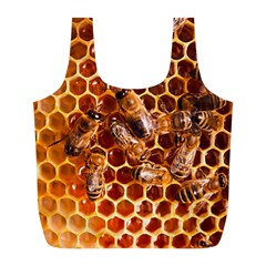 Honey Bees Full Print Recycle Bags (l)  by BangZart