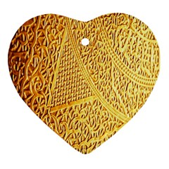 Gold Pattern Ornament (heart) by BangZart