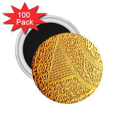 Gold Pattern 2 25  Magnets (100 Pack)